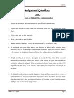 Ece Vii Optical Fiber Communication [10ec72] Assignment