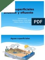 Aguas Superficiales Afluente y Efluente