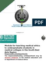 2. Biomedical Ethics