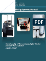 Research Equipment Manual