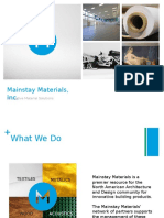 Mainstay Textile Presentation for a&D