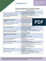 PELA Checklist