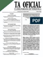 Sumario Gaceta Oficial 39.450