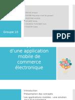 Développement d'Une Application Mobile de Commerce Électronique