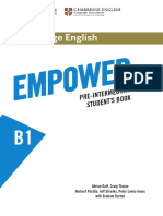 Empower B1 Pre-Intermediate (CUP) - Contents
