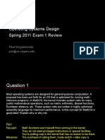 OS Sample Exam1 Review 2011 s