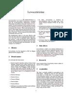 Levocetirizine