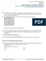 Grade 9 Data Handling Probability Statistics Ae