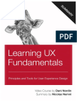 Learning UX Fundamentals by Dani Nordin Summary