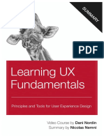 Learning UX Fundamentals by Dani Nordin Summary