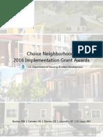 Choice Neighborhoods 2016 Implementation Grant Awards
