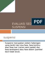 Evaluasi Sediaan Suspensi