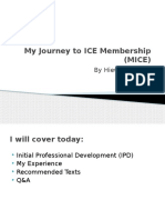 My Journey to ICE Membership