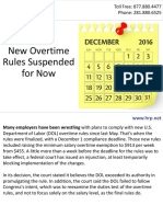 New Overtime Rules Suspended for Now