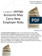Health Savings Accounts May Carry New Employer Risks