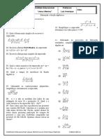 Revisão Final - 8 Ano - Fatoracao e Fracao Algébrica
