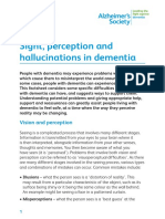 Sight Perception and Hallucinations in Dementia Factsheet