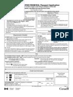 Canada Passport Form Pptc054