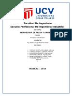 INFORME PROCESOS MERMELADA