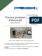 Syllabus Electricité PHY1113CE 2013