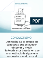 Conductismo- PPT