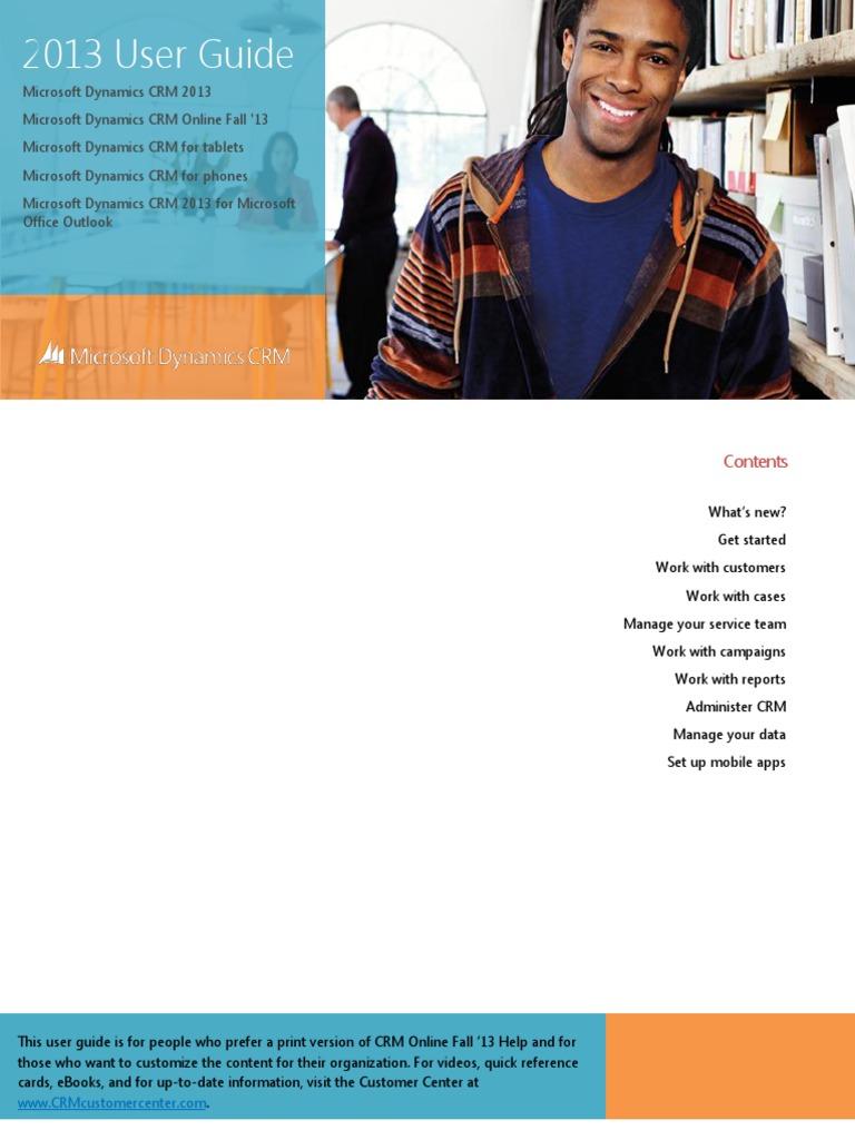 Microsoft dynamics crm 2013 quick reference menu guide microsoft.