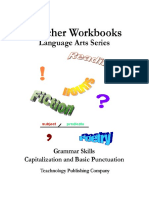 Teacher Workbooks, LA Series - Grammar Skills, Capitalization and Basic Punctuation