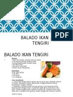 Balado Ikan Tengiri