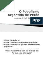 O Populismo Argentido de Perón