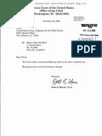 Order Denying Petition for a Writ of Certiorari
