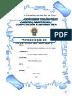 Trabajo de Investigación de Angy Metodologia de Desarrollo de Software Corregido