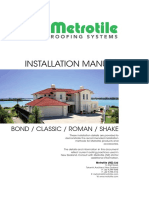 Metrotile Installation Manual