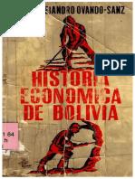 Historia económica de Bolivia, Ovando-Sanz, Jorge Alejandro