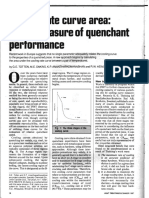 Cooling Rate Curve Area a New Measure of Quenchant Performancer