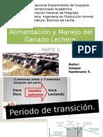 Alimentacion y Manejo en Bovinos de Leche. PARTEII