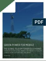 THE GLOBAL TELECOM TOWER ESCO MARKET