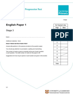 Primary Progression Test - Stage 3 English Paper 1