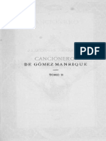Cancionero de Gómez Manrique, t. II.