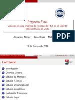 Formulación y evaluación de un proyecto