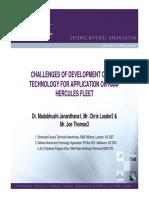 Challenges of Development of Rra Technology for Application on Raaf Hercules Fleet (Wp116)