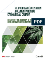 Le groupe de travail sur la légalisation et la réglementation du cannabis