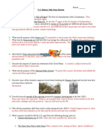 mid term test review key  us history
