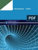 Tarif & Fiches Techniques