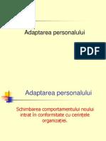 adaptarea personalului