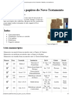 Lista Dos Papiros Do Novo Testamento