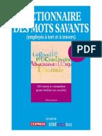 Dictionnaire Des Mots Savants