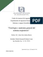 Fisiología y Anatomía General Del Sistema Respiratorio