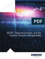 Aes67 Networked Audio Interoperability Whitepaper