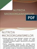 Curs 5 Nutritia Microorganismelor