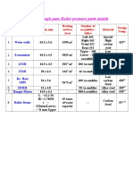 Pressure Parts Specifications